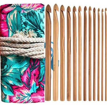 Bamboo crochet hooks set by athena yy