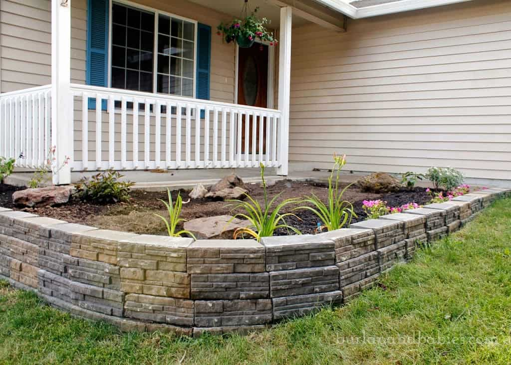 Build a stone retaining wall