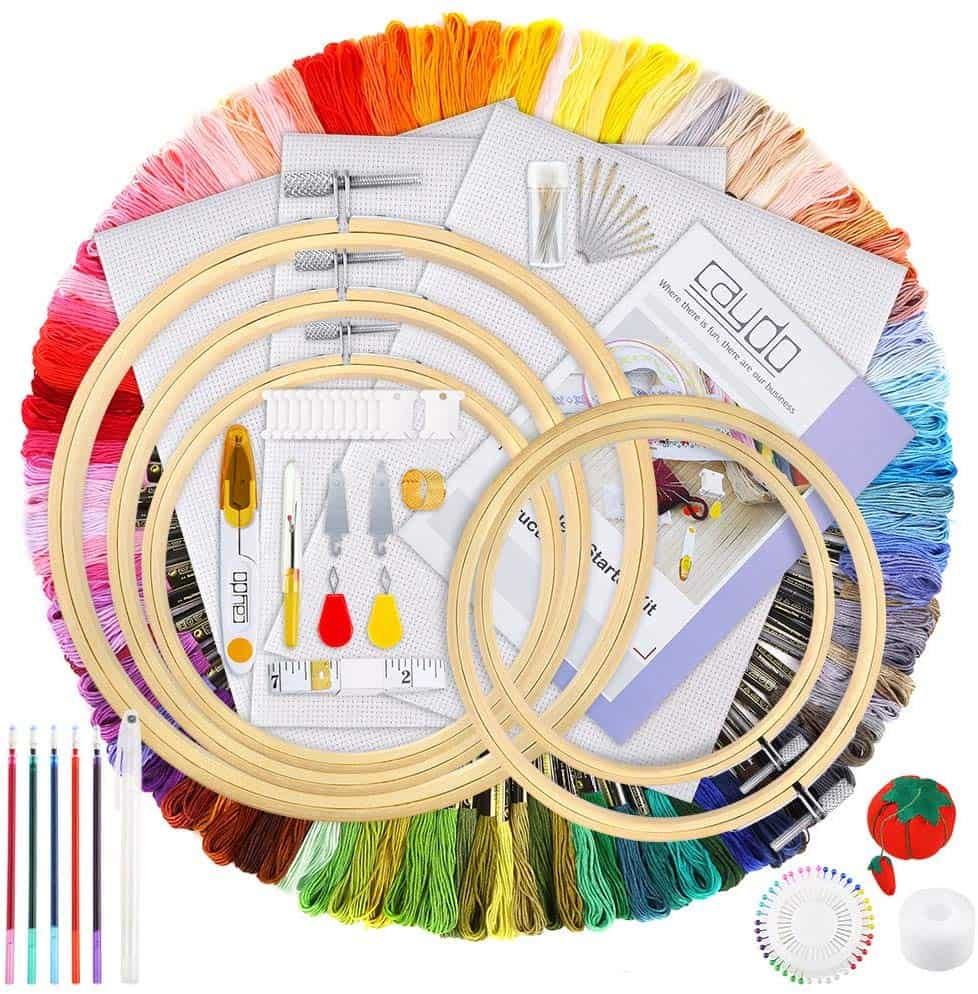 Caydo 205 pieces embroidery kit
