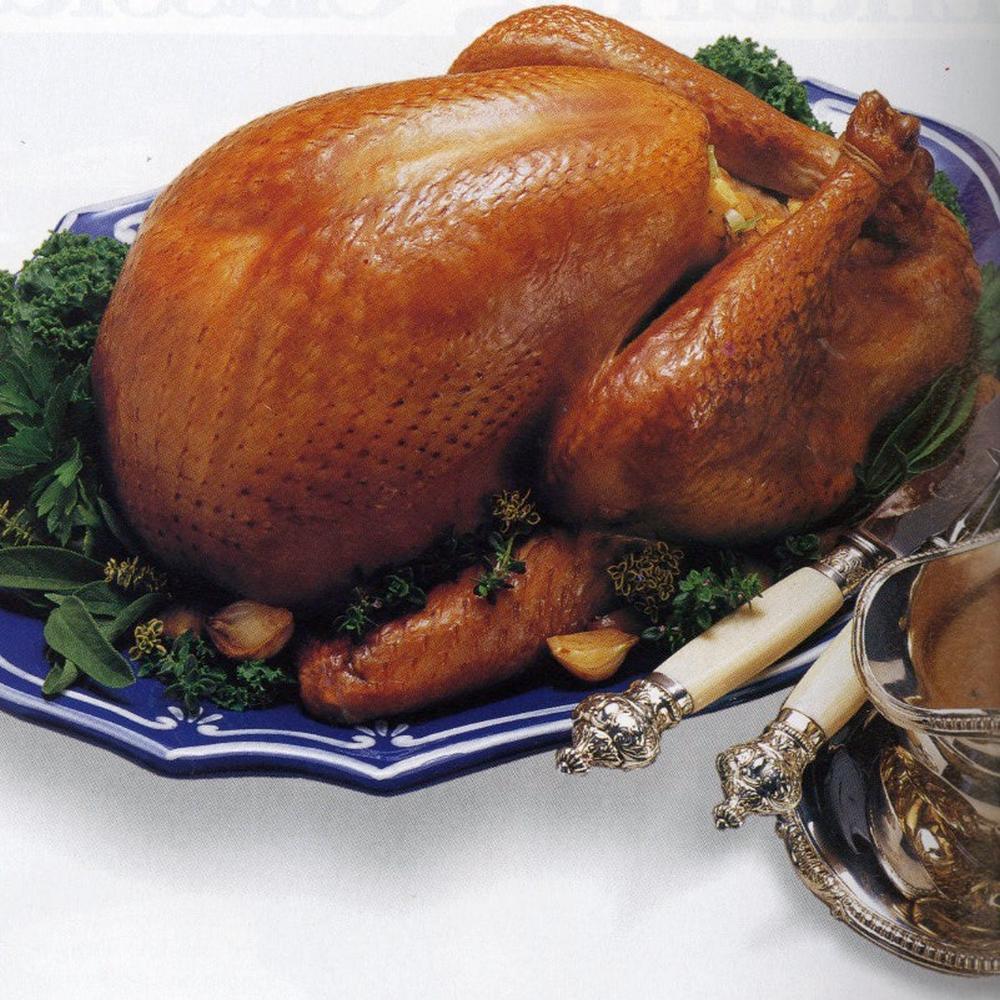 Cider roast turkey with applejack gravy