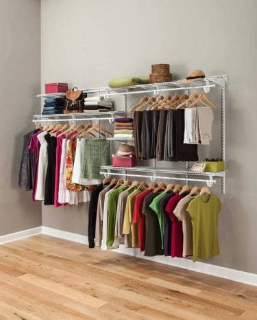 Closetmaid 2091 shelftrack adjustable closet organizer kit