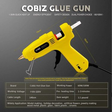 Cobiz full size hot glue gun