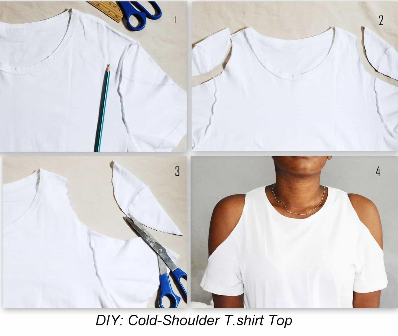 Cold shoulder t shirt