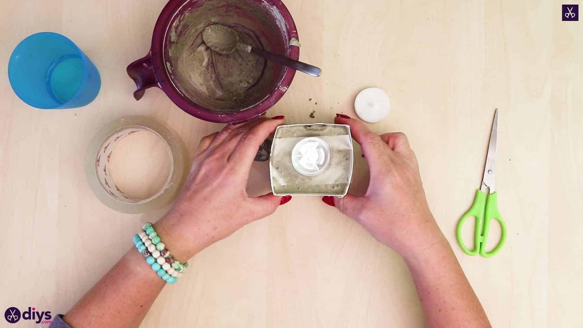 Concrete advent candle holders add simple concrete