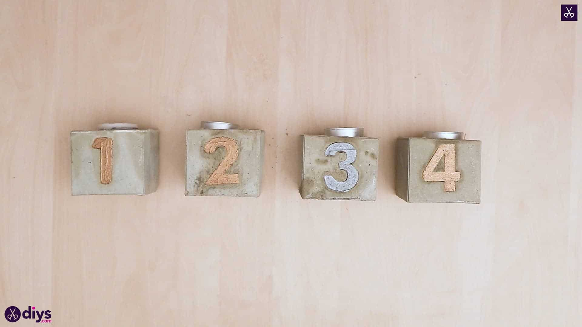 Concrete advent candle holders simple craft