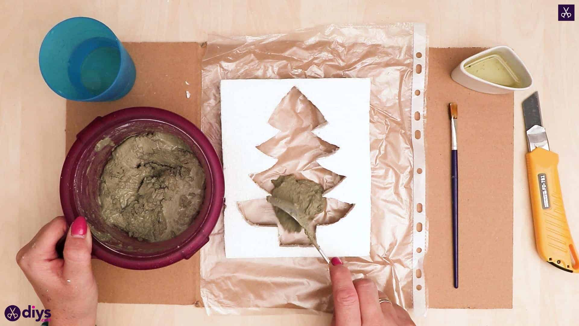 Concrete outdoor christmas tree decoration add