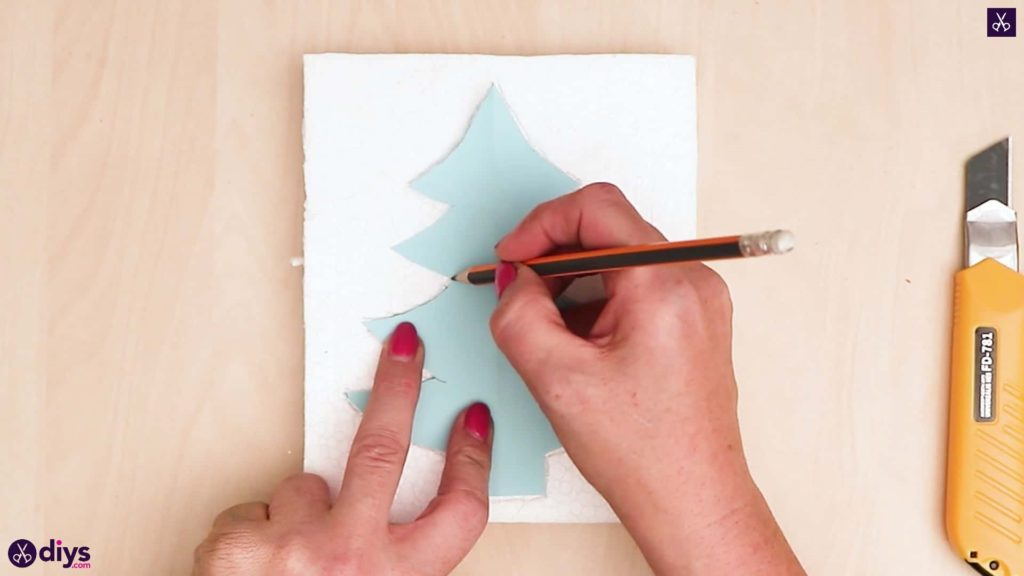 Concrete outdoor christmas tree decoration draw