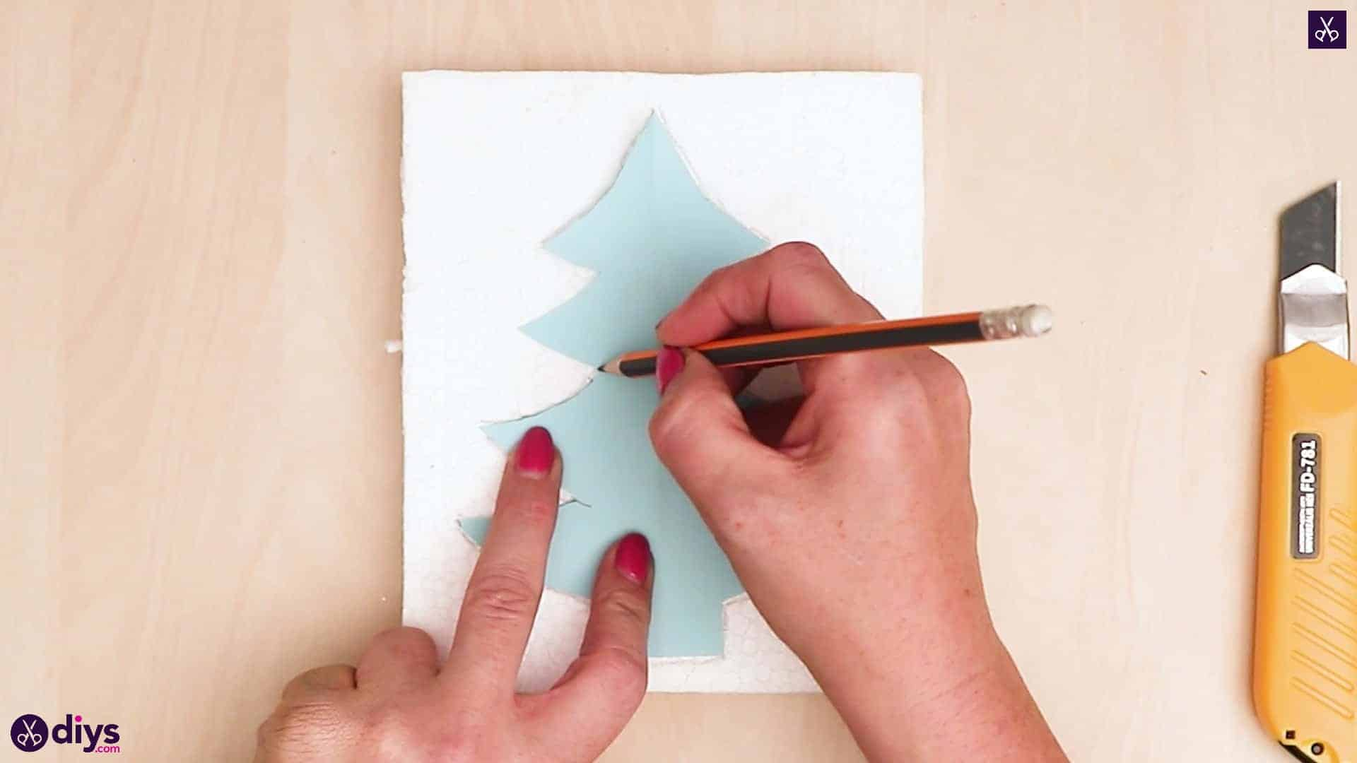 Concrete outdoor christmas tree decoration draw
