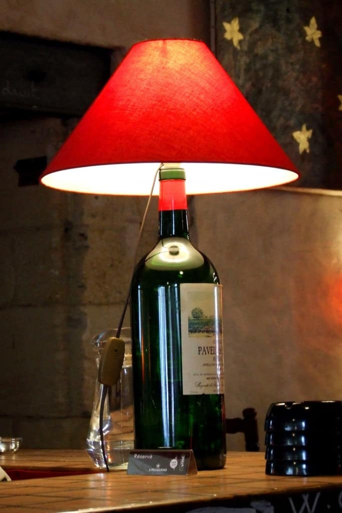 Custom wine bottle lamp