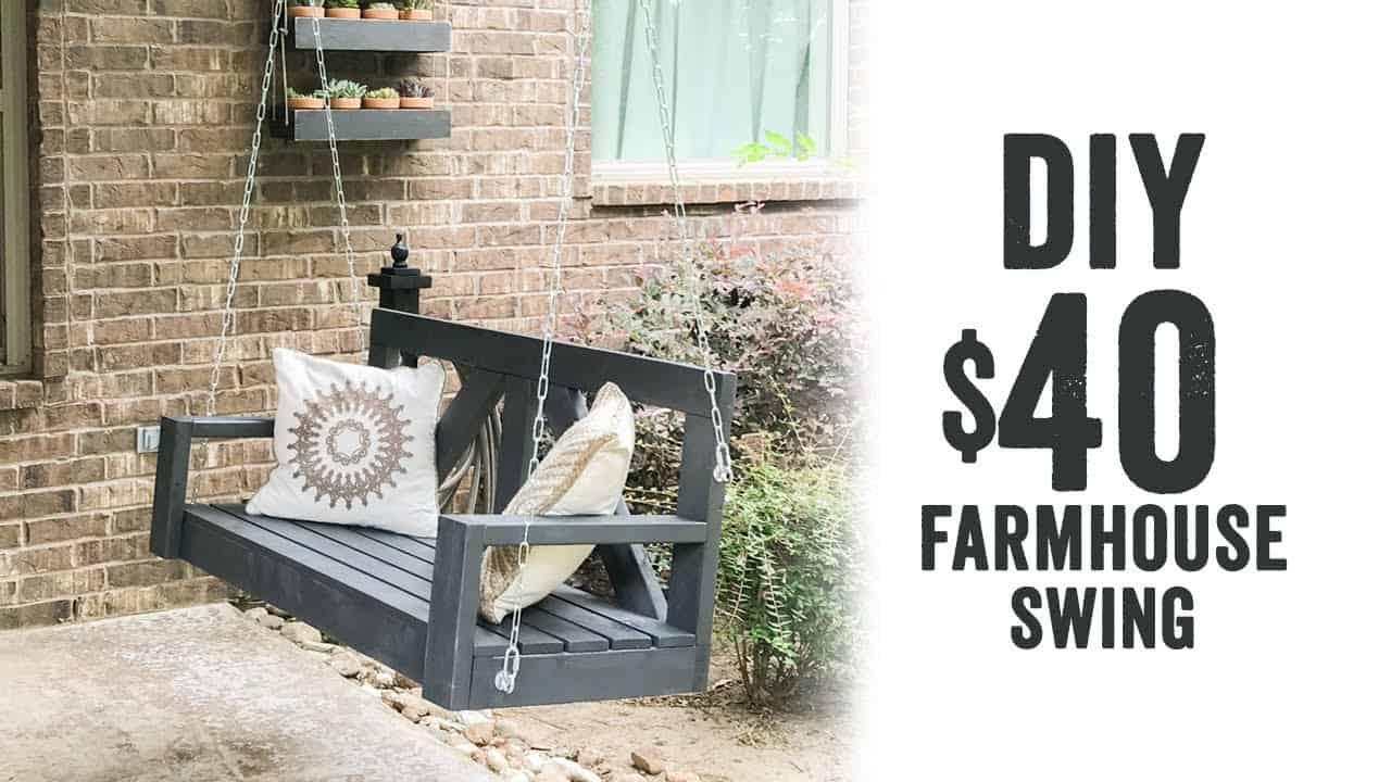Diy $40 farmhouse inspired porch swing