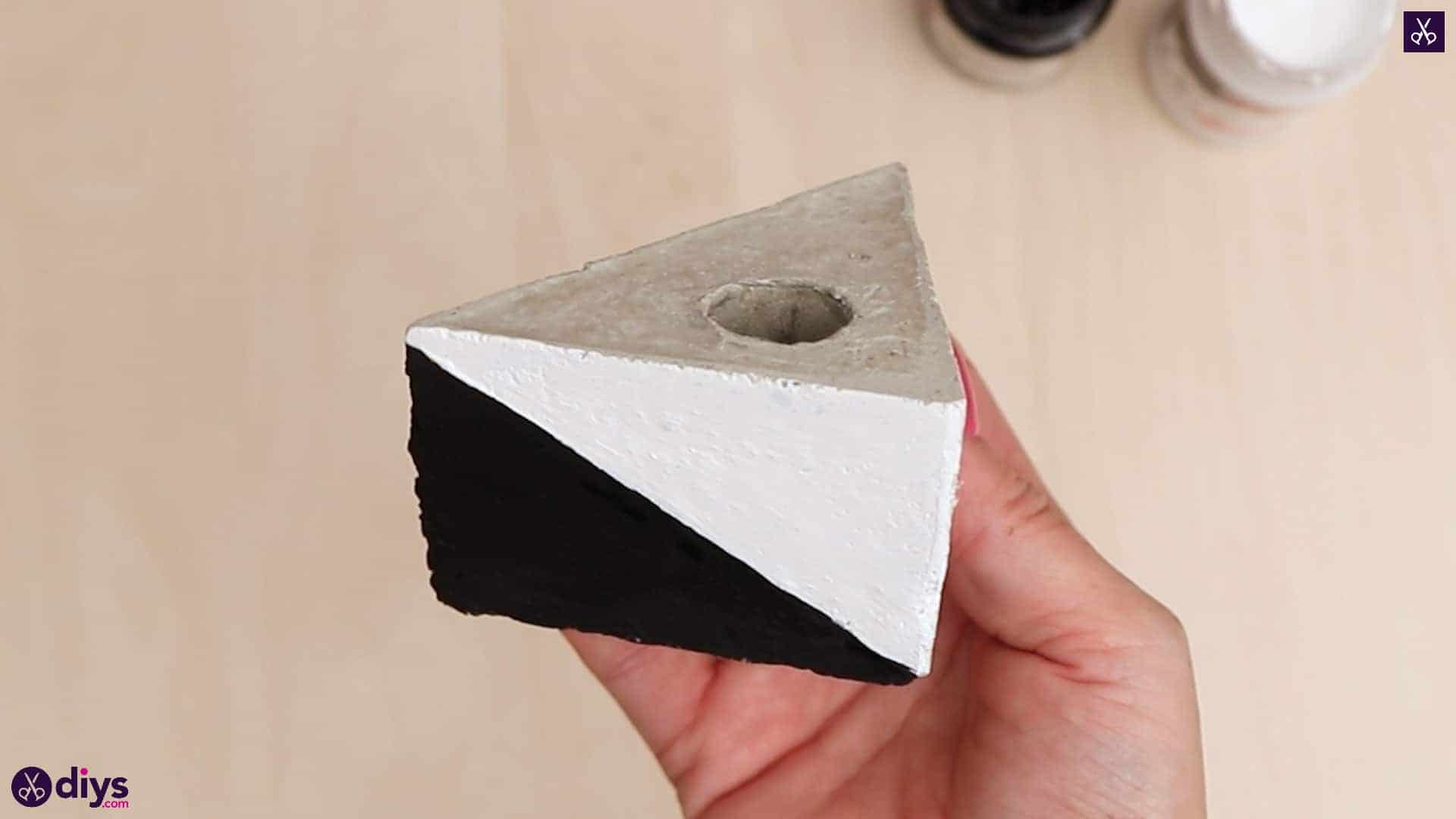 Diy concrete reed diffuser black and white