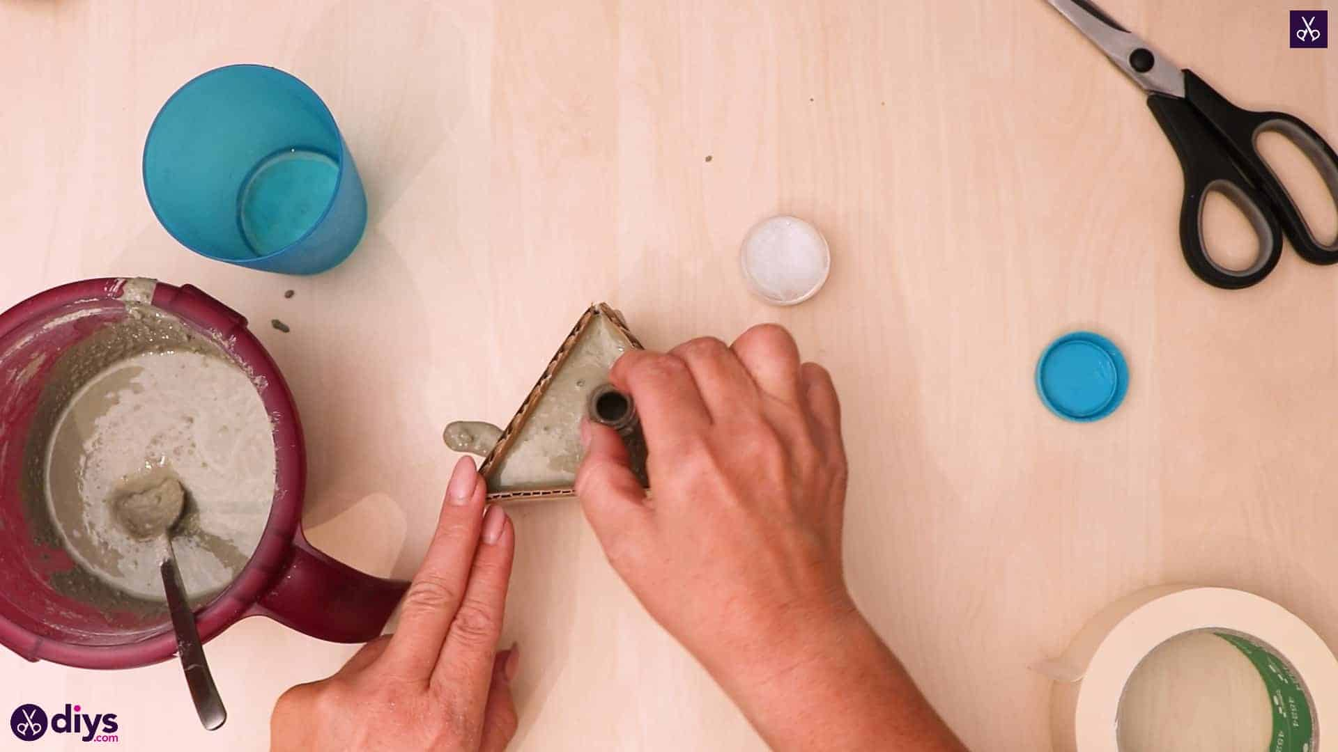Diy concrete reed diffuser step 10