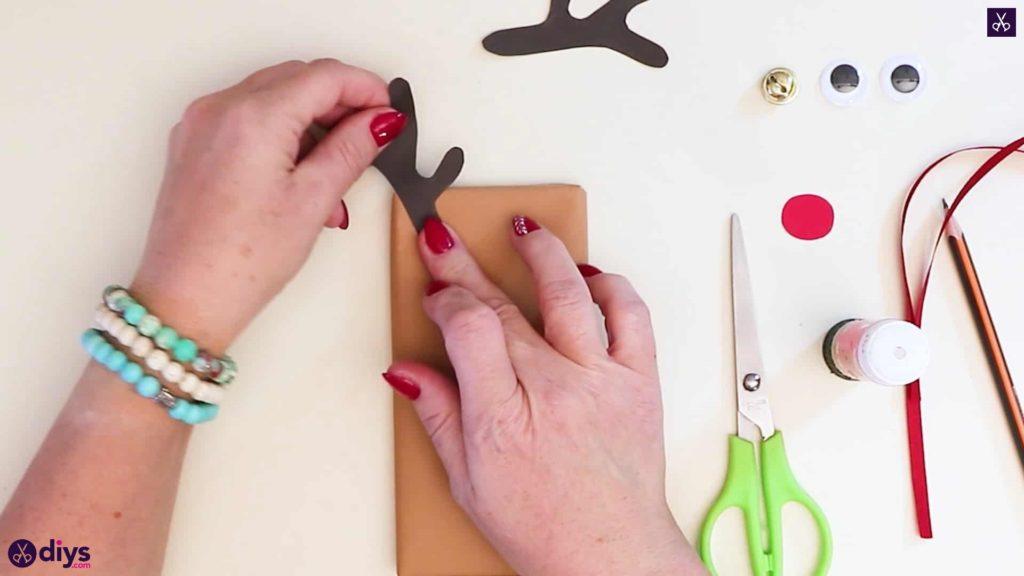 Diy reindeer gift wrap for christmas press