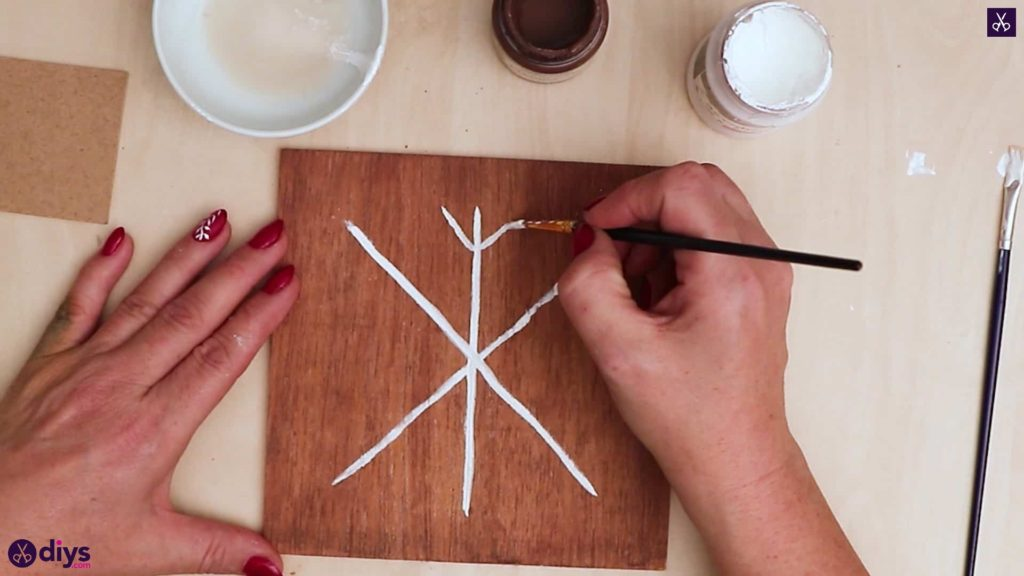 Diy snowflake art christmas decoration step 6