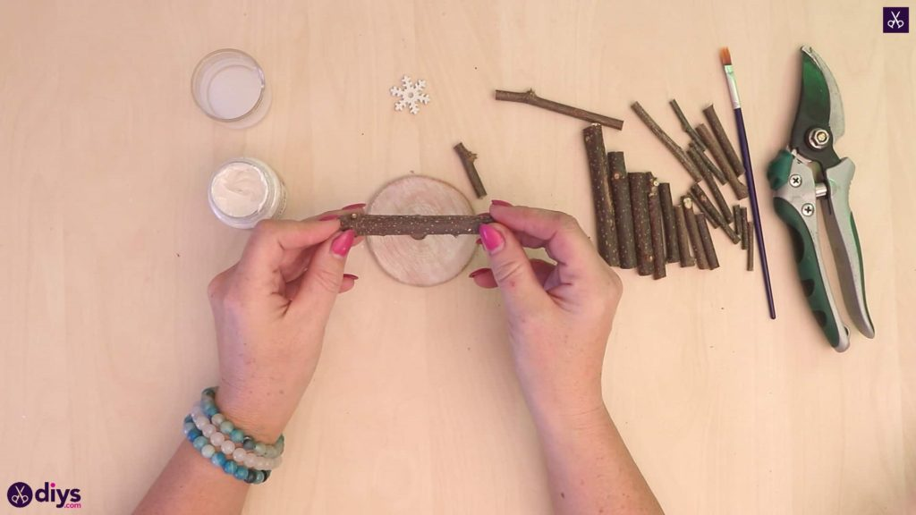 Diy twig christmas tree add branches