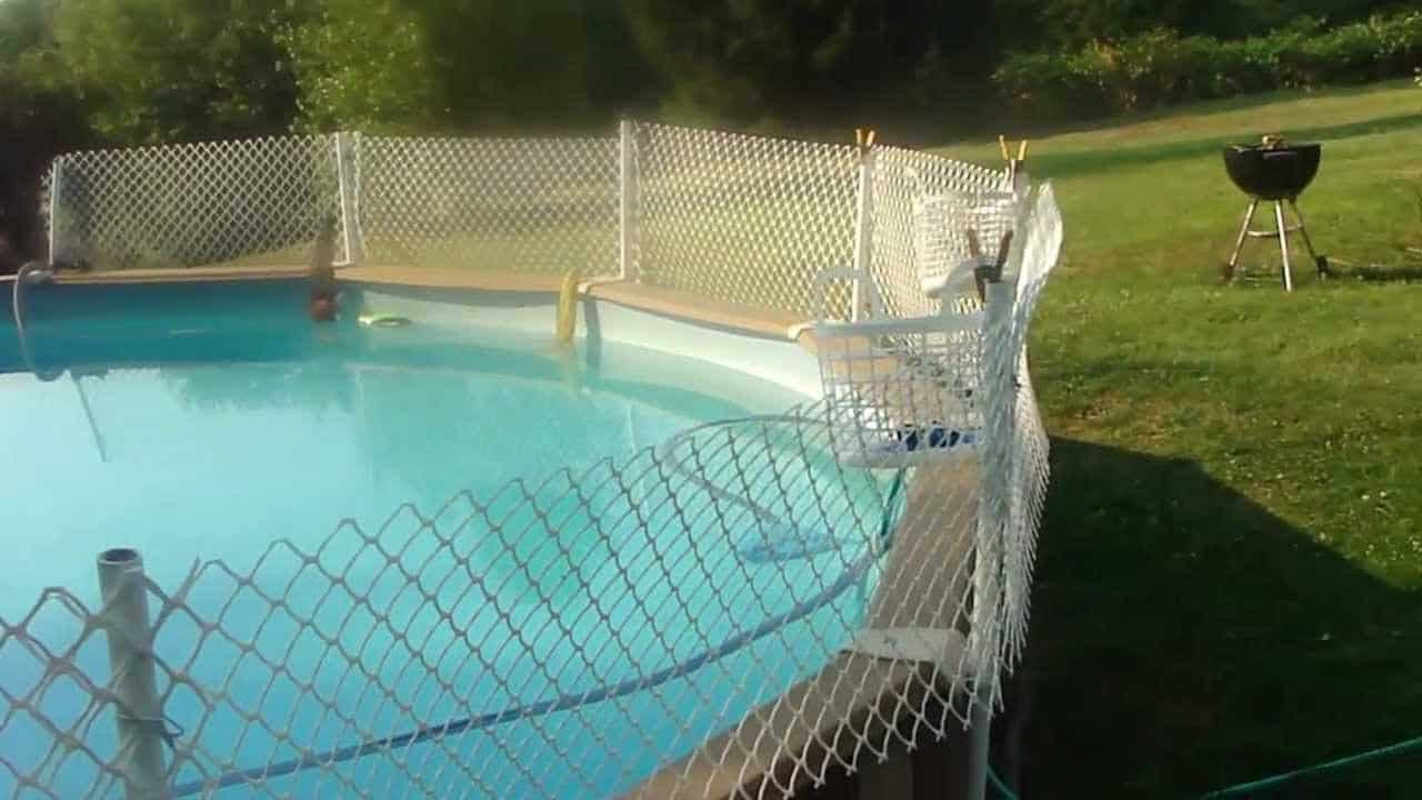 Diy above ground pool fence