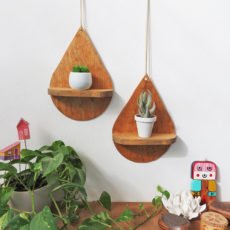 Diy drop shaped shelf