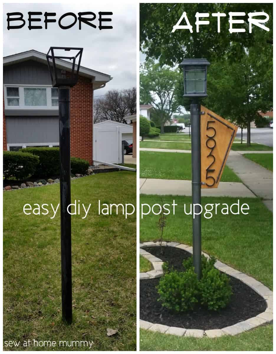 Diy lamp post garden upgrade