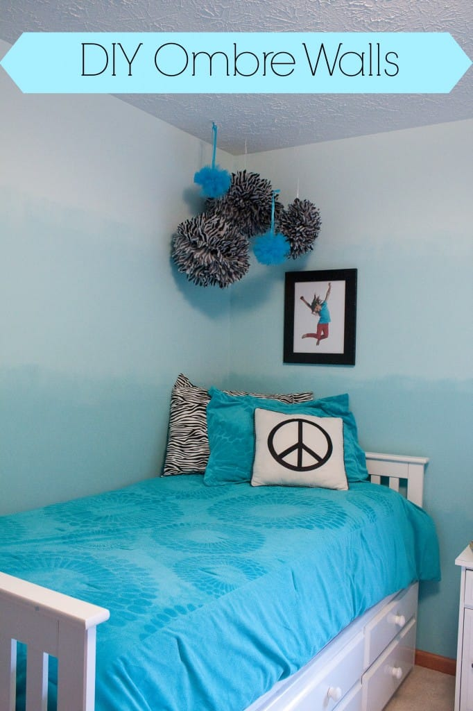 Diy ombre painted walls