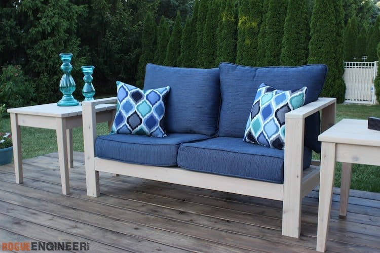 Diy outdoor patio loveseat