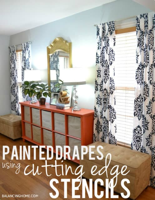 Diy stencilled drapes