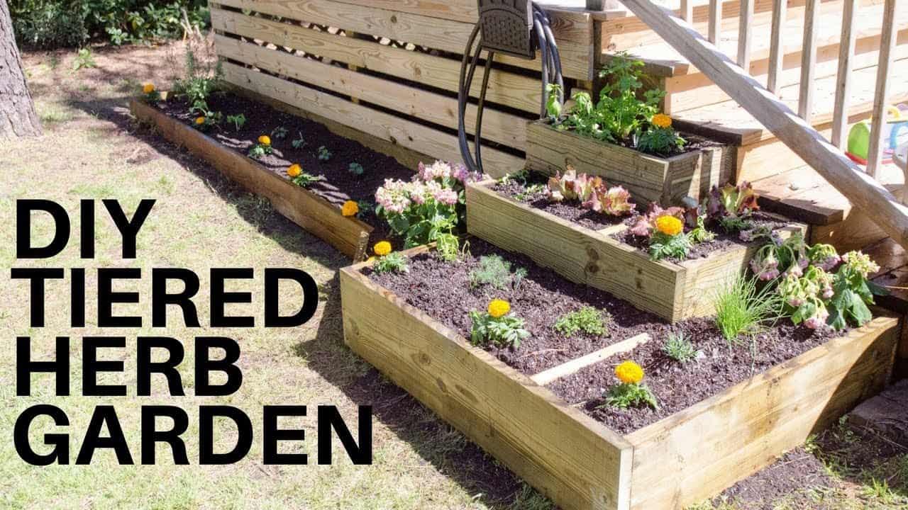 Diy tiered herb garden boxes