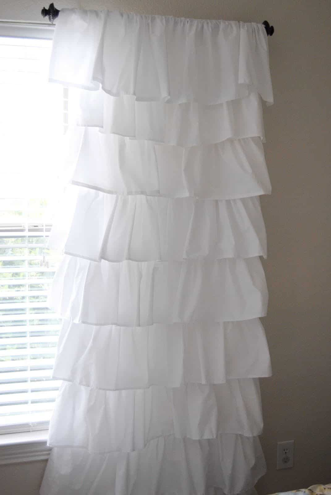 Diy white ruffled curtains