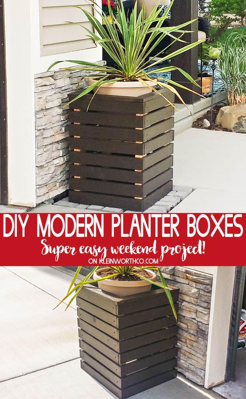 Diy wooden modern planters