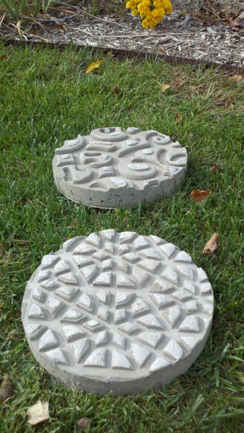 Doormat embossed concrete stepping stones
