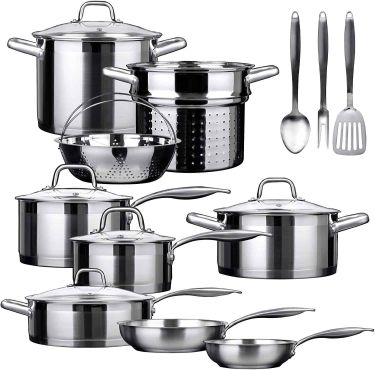 Duxtop professional 12 piece stainless steel induction cookware set