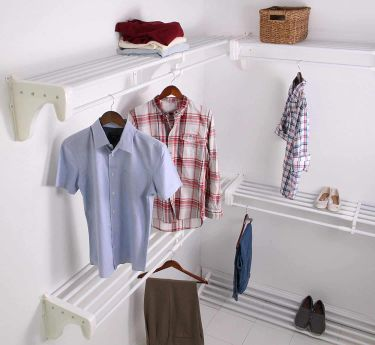 Ez shelf walk in closet kit