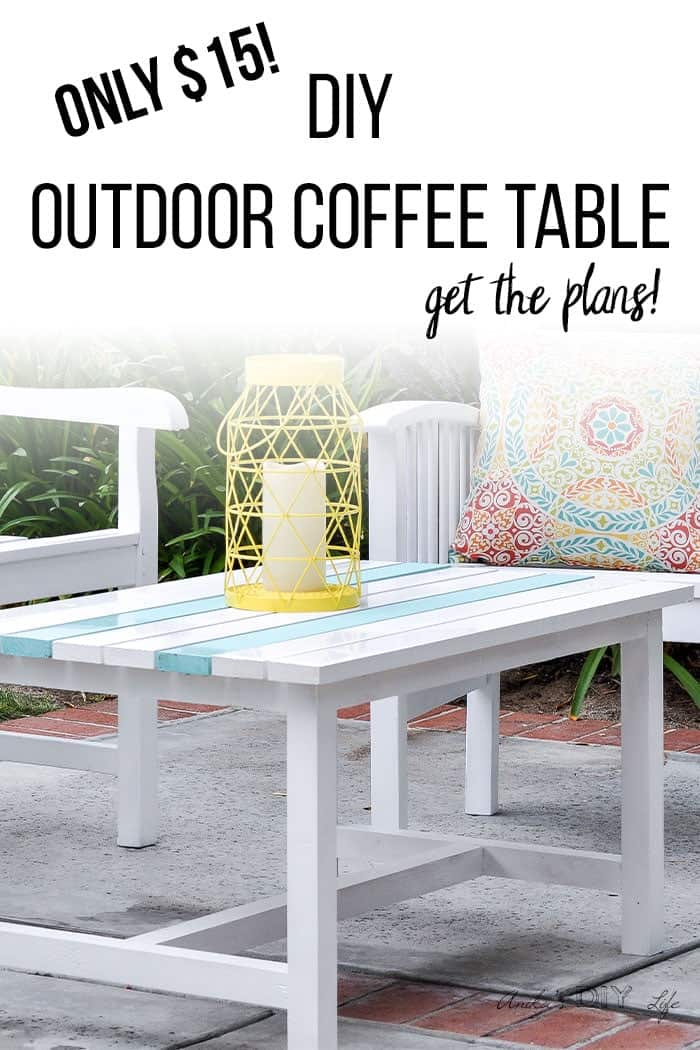 Easy $15 diy wooden patio coffee table