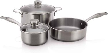 Frigidaire induction ready stainless steel cookware set