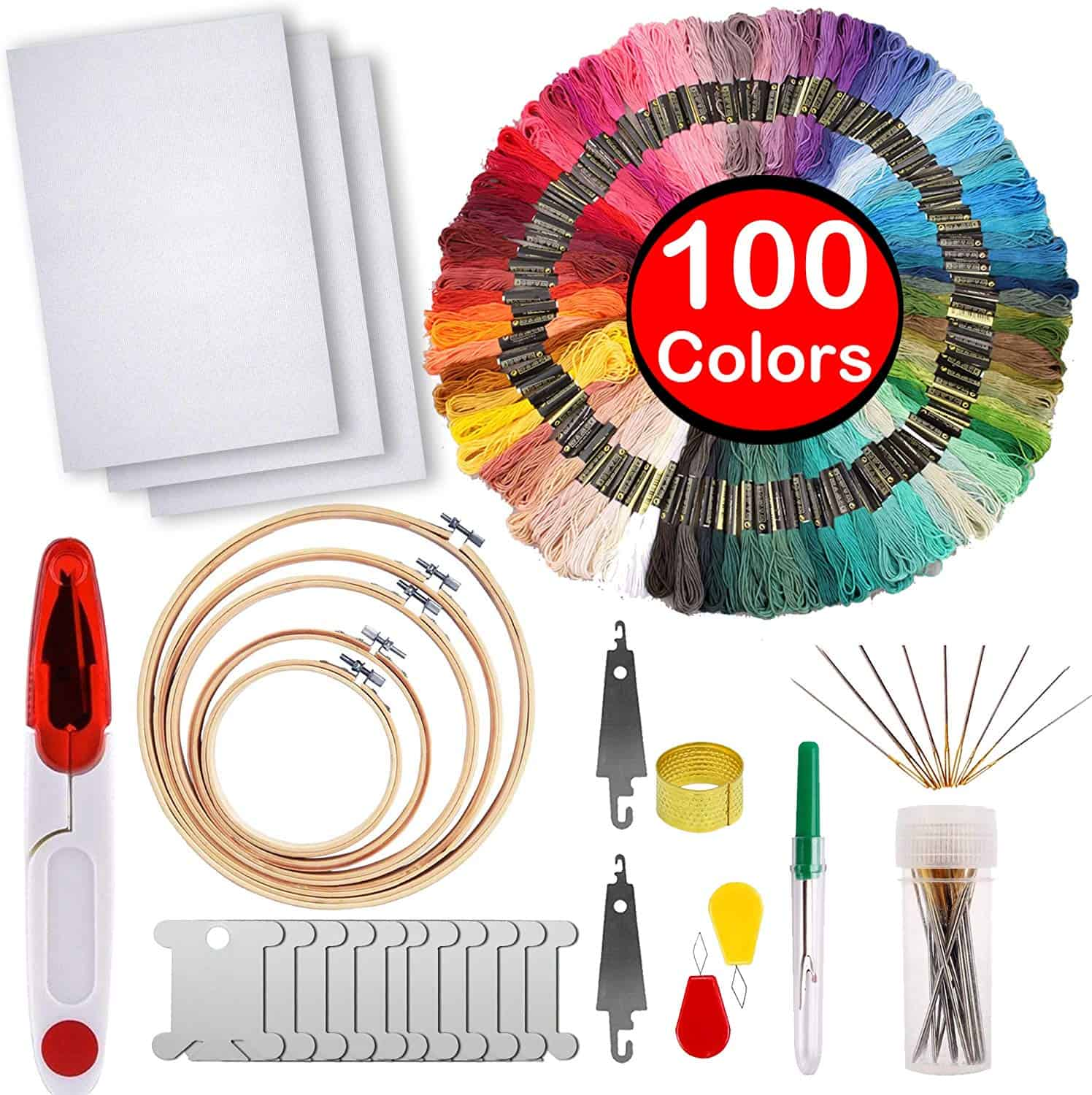 Full range of embroidery starter kit