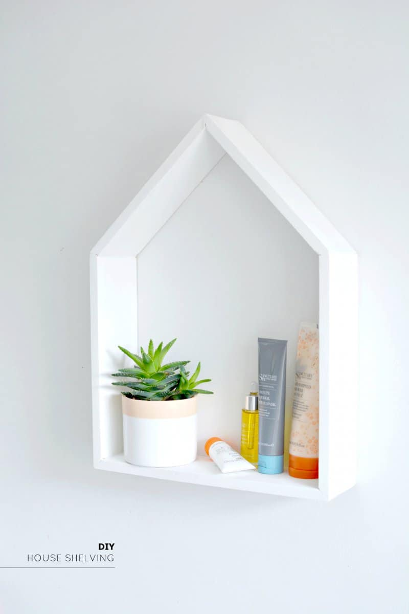 House shaped trinket shelf