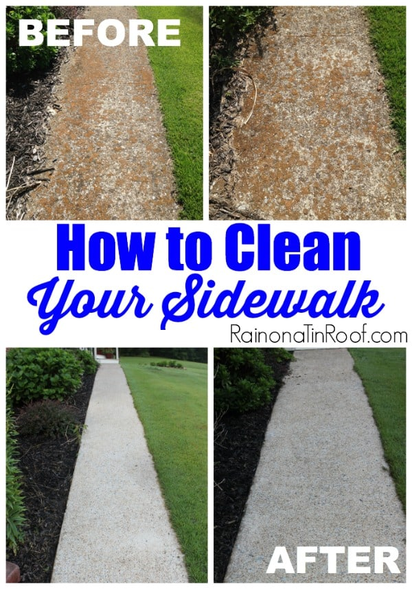 How to clean up your dirty stone walk