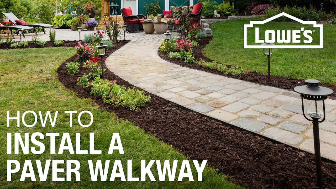 How to install a brand new paver walkway