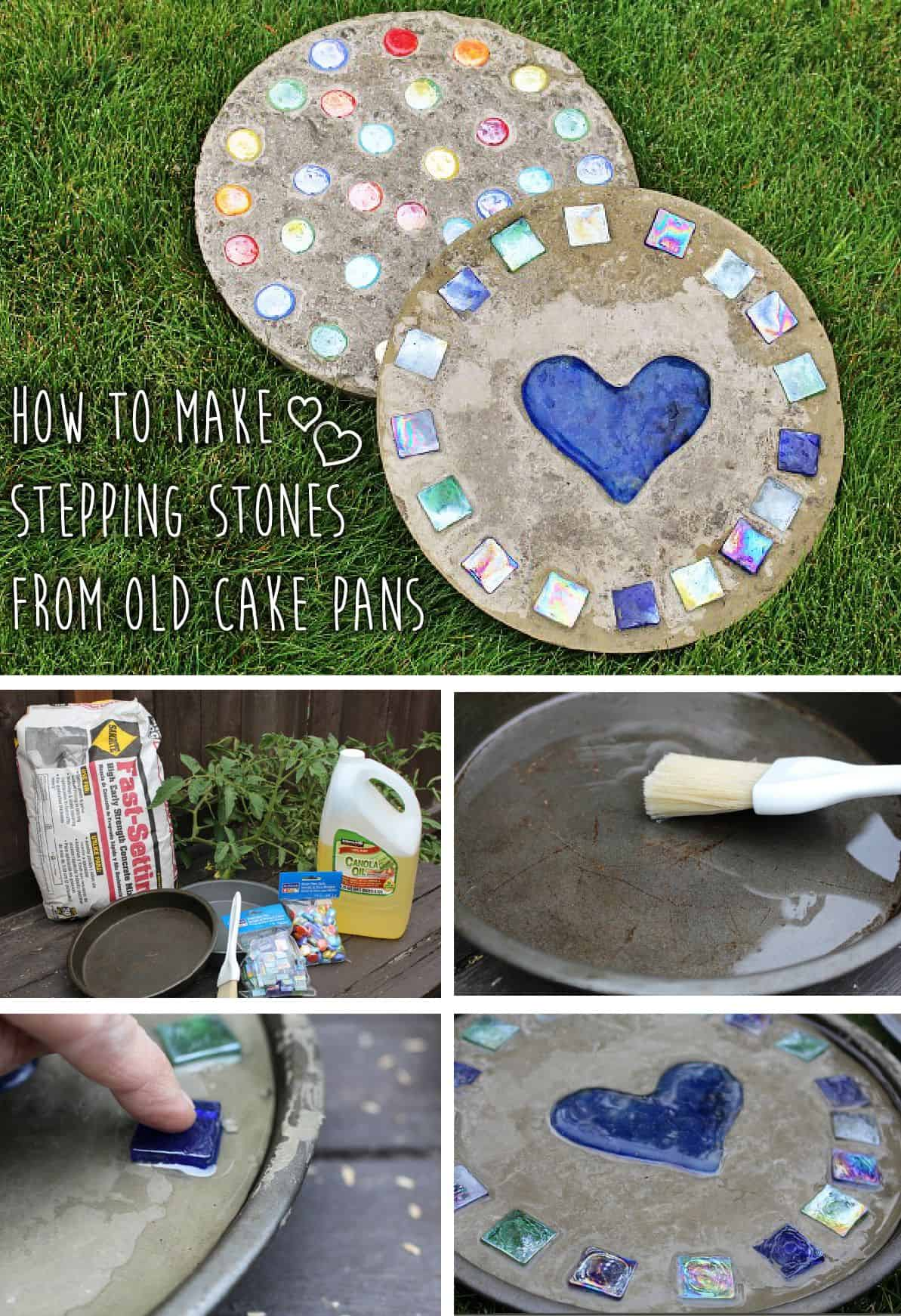 Pretty Diy Stepping Stones For Your Garden