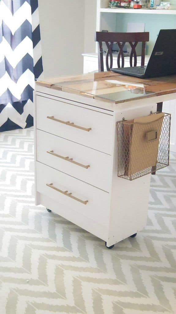 Ikea rast crafting dresser with full length drawers