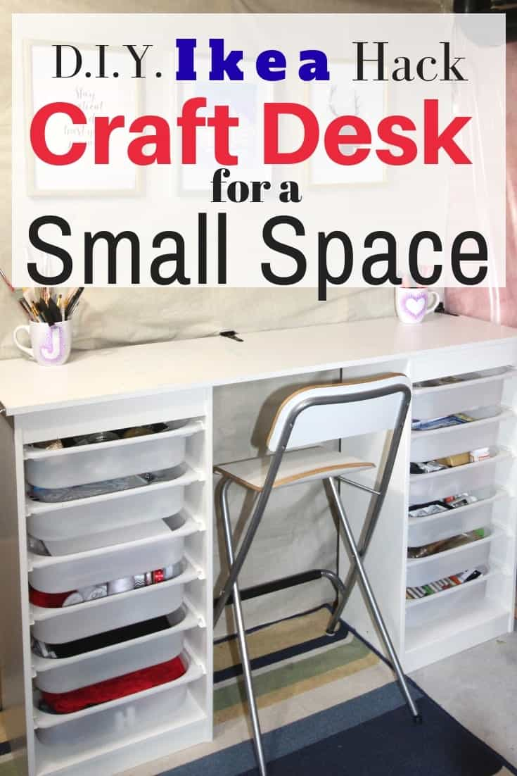 Little ikea hack craft desk for a small space