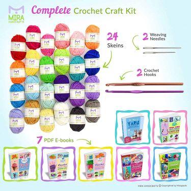 Mira handcrafts 24 acrylic yarn bonbons