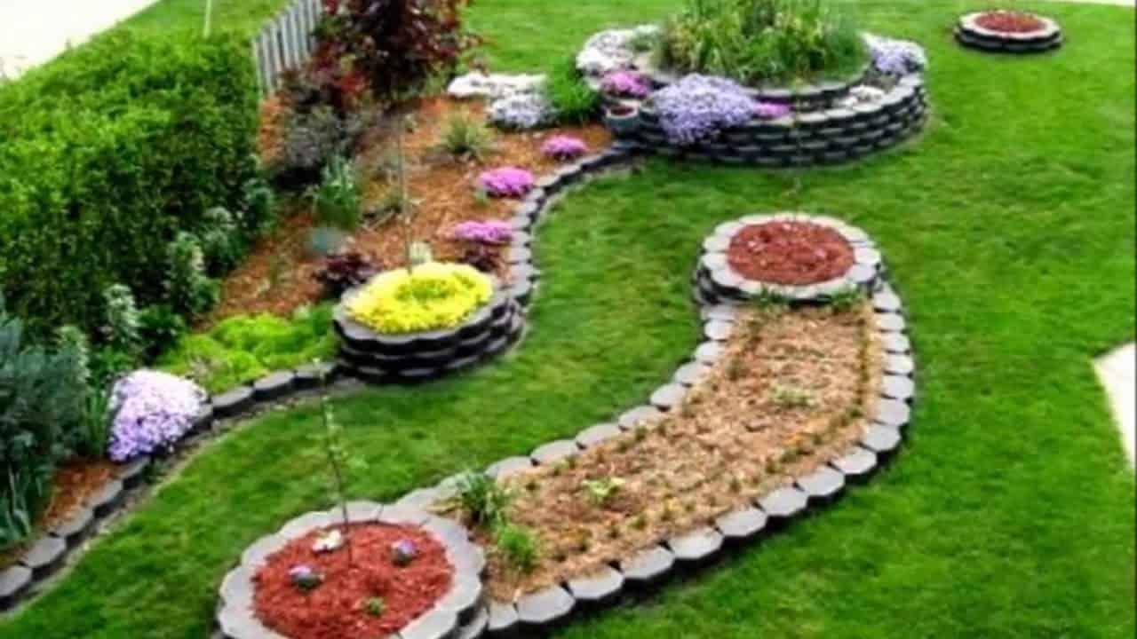 Modern sloped backyard makeover on a budget