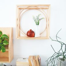 Modern square and circle trinket shelf
