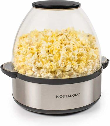 Nostalgia stirring popcorn popper