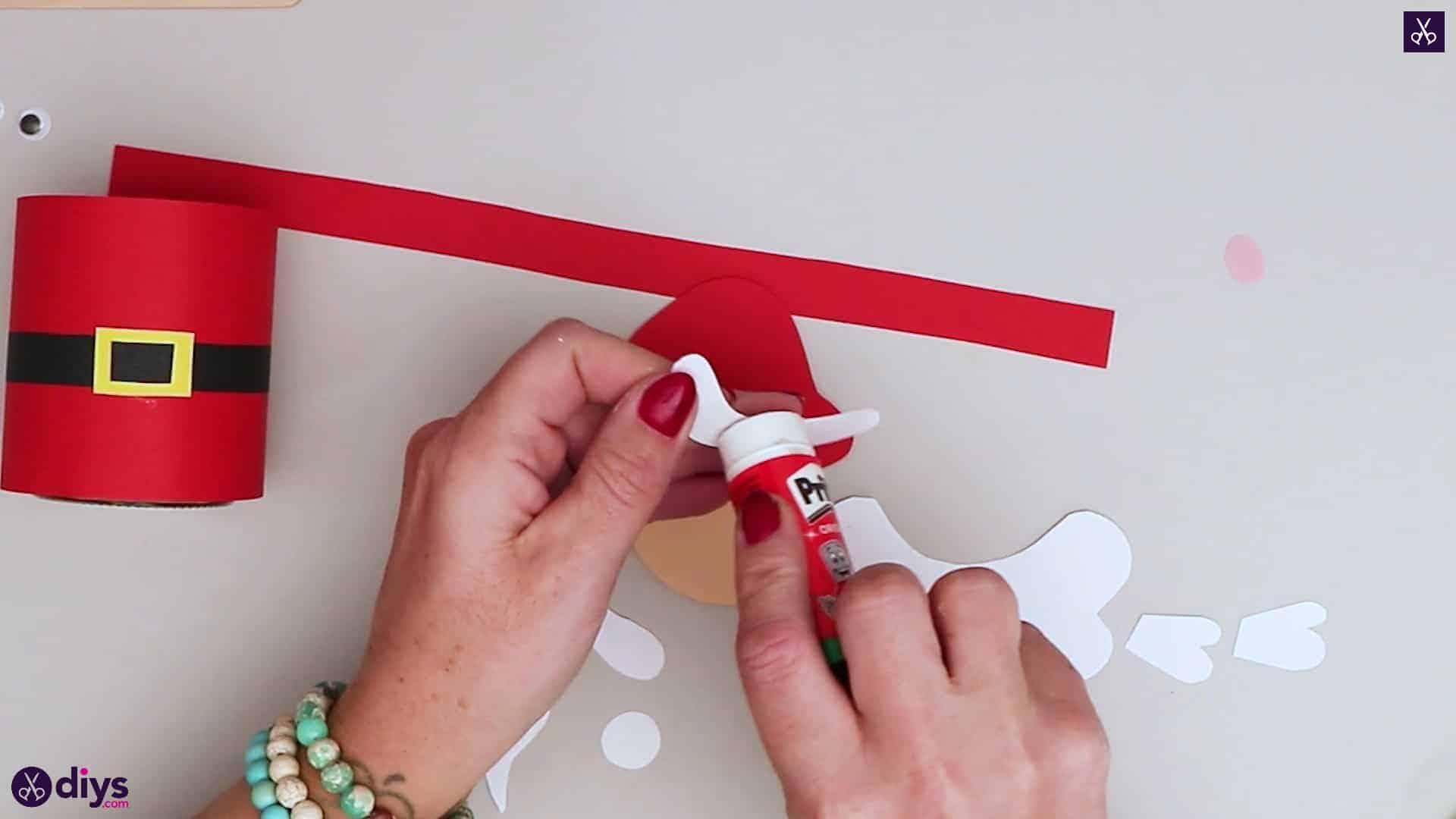 Paper santa candy holder down