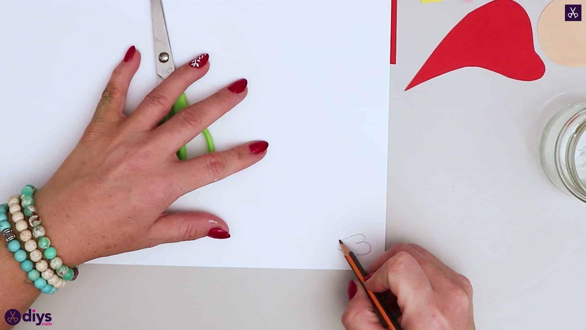 Paper santa candy holder draw
