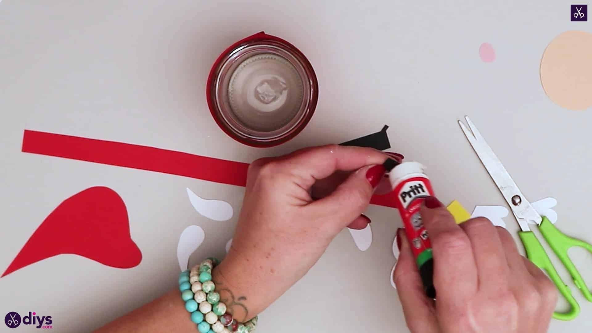 Paper santa candy holder glue top