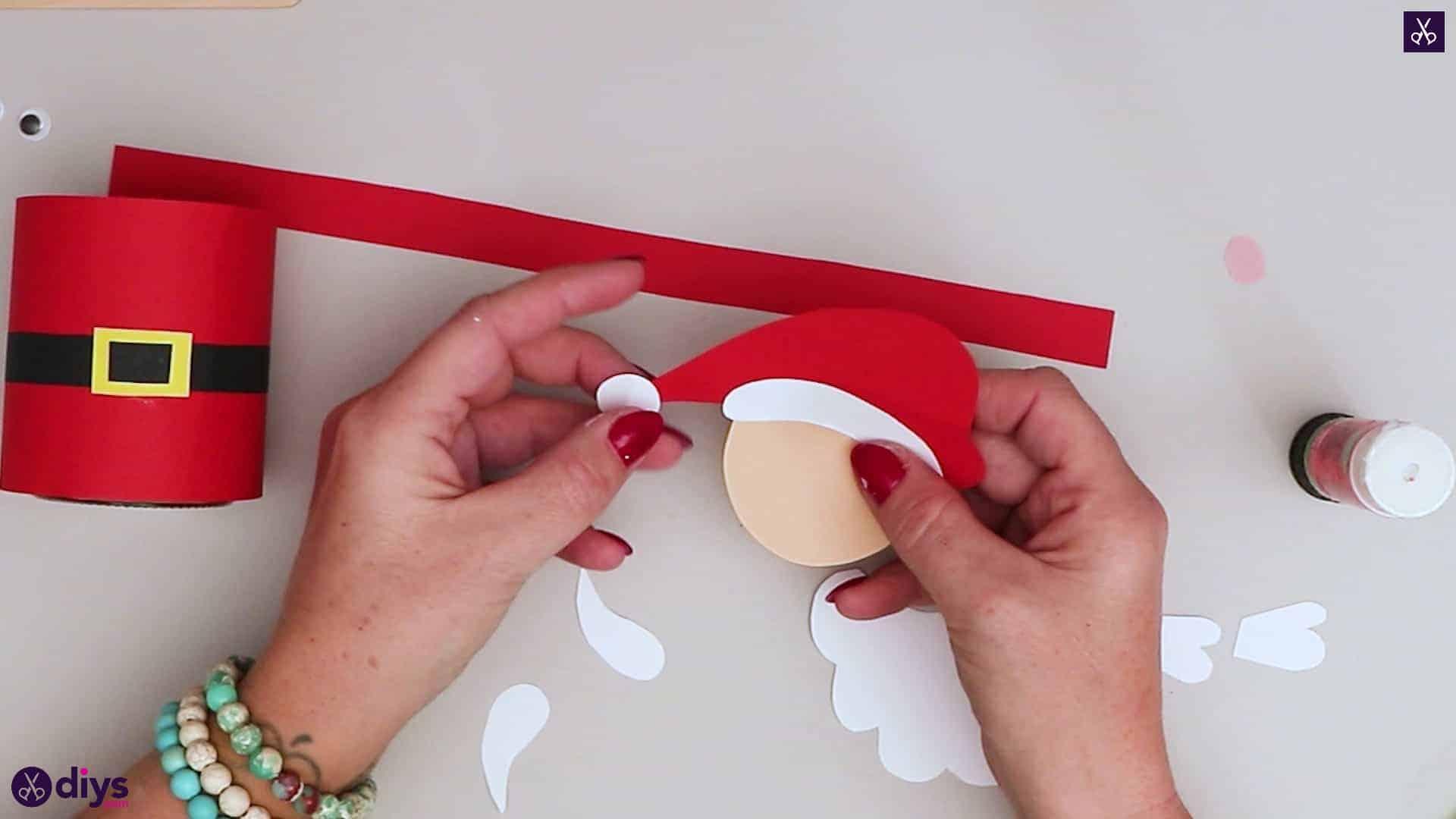 Paper santa candy holder hat santa