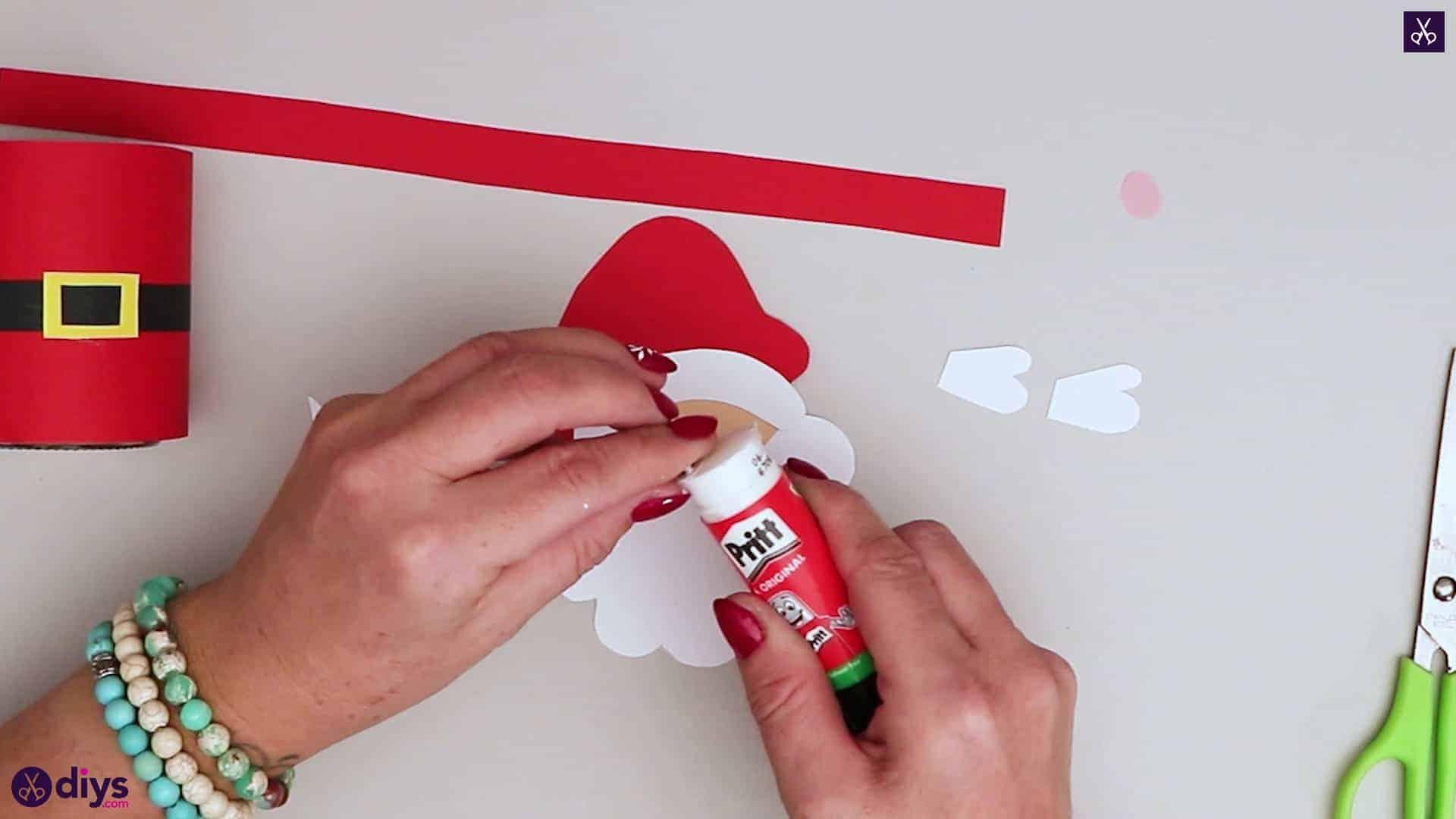 Paper santa candy holder pritt
