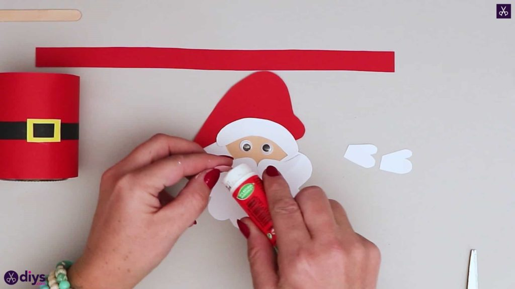 Paper santa candy holder simple face